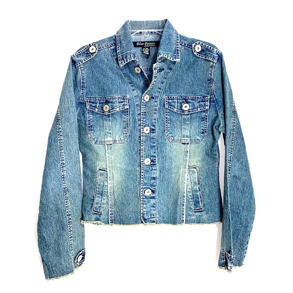Blue Point Jackets & Blazers - Blue Point Denim Jacket-L